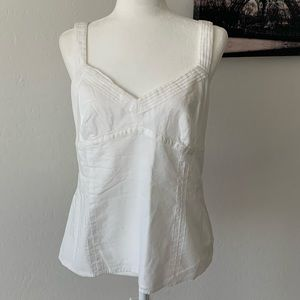 Ann Taylor LOFT white summer camisole